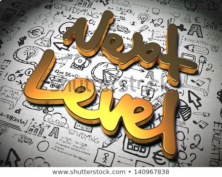 Następny poziom slogan metal Zdjęcia stock © tashatuvango