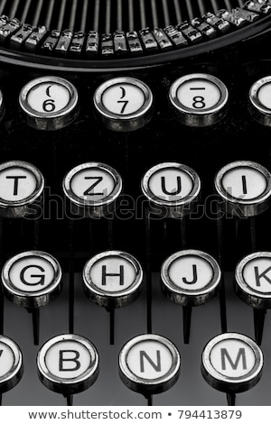 vintage typewriter detail stock photo © stevanovicigor