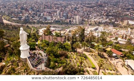 görmek · Santiago · Şili · güney · amerika · gökyüzü · şehir - stok fotoğraf © fxegs