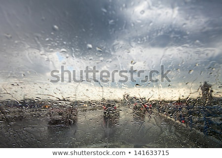 rain droplets on car windshield Stock photo © ssuaphoto
