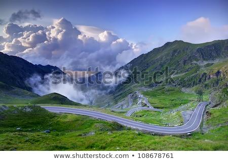 vide · montagne · route · vertical · vue · seuls - photo stock © maxmitzu