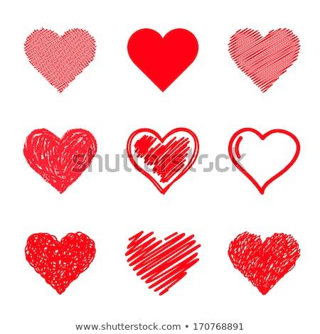 коллекция красивой вектора сердцах женщину текстуры Сток-фото © serdjo