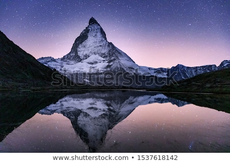 Pic alpes Suisse ciel neige bleu Photo stock © janhetman
