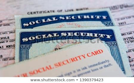 Immigration sociale vert flèche slogan gris Photo stock © tashatuvango