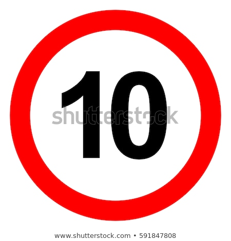 ограничение скорости дорожный знак 10 изолированный белый фото Сток-фото © tainasohlman