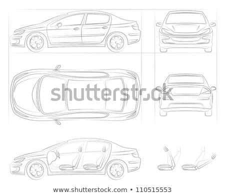 drótváz · autó · fehér · sport · absztrakt · modell - stock fotó © cherezoff