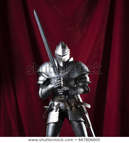 Protective helmet with a visor on medieval knight  Stock photo © ryhor