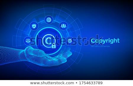 Dijital telif hakkı örnek siyah bilgisayar klavye Stok fotoğraf © 3mc