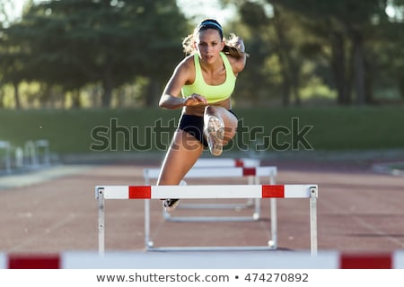 Womans Hurdles Stock photo © stevemc