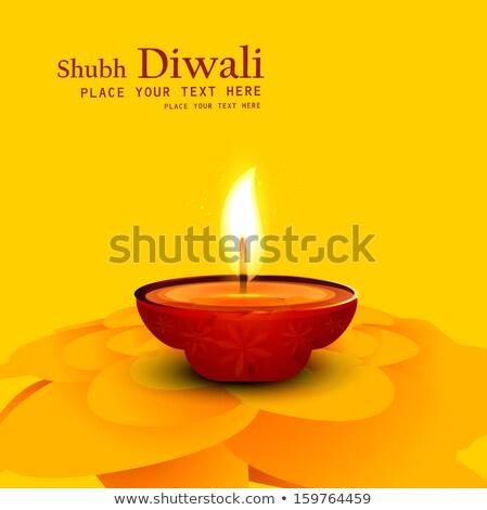 Piękna diwali szczęśliwy streszczenie świetle Zdjęcia stock © bharat