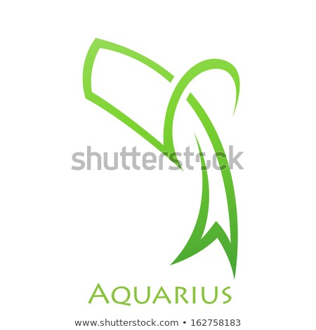 simplistic aquarius zodiac star sign stock photo © cidepix