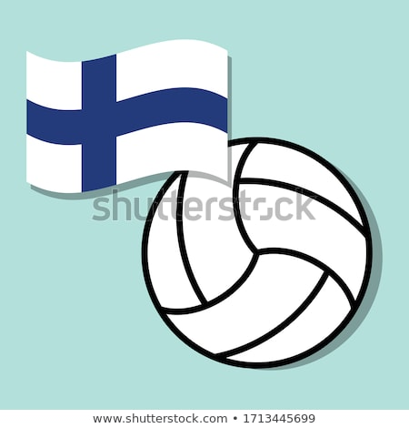 Volleybal team geïsoleerd achtergrond Blauw Stockfoto © bosphorus