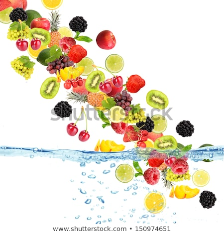 Stock photo: Waterfall and fruit