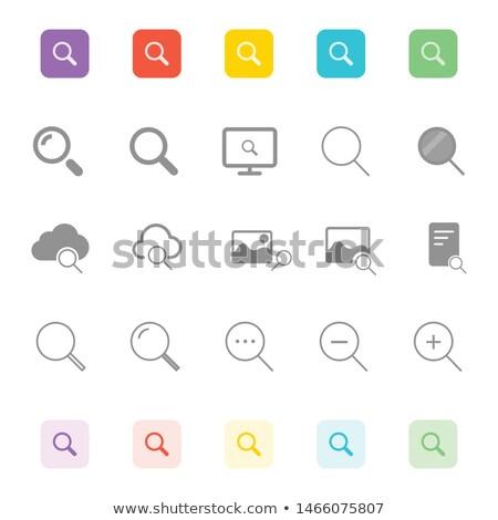 Abstract colorato zoom icona vettore web Foto d'archivio © burakowski