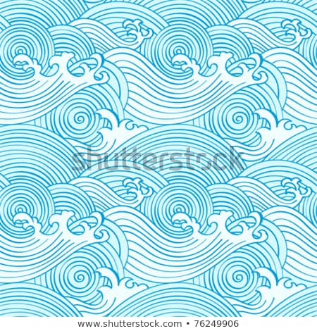 seamless chinese ocean wave pattern stock photo © creative_stock