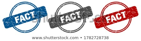 Facts Stamp Set Stock photo © burakowski