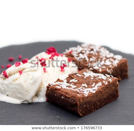kabouter · framboos · icecream · sluiten · witte - stockfoto © jackethead