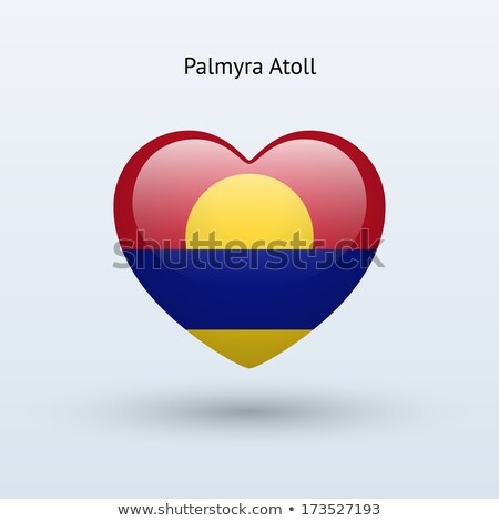 Love Palmyra Atoll symbol. Heart flag icon. Stock photo © tkacchuk