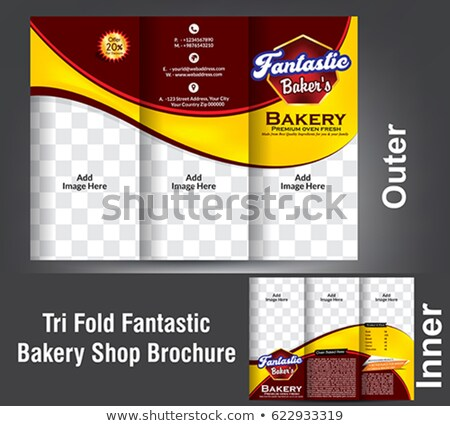 Tri Fold Bakery Shop Brochure Stock photo © rioillustrator