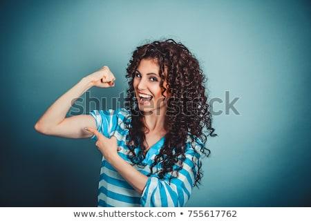 フィット · 女性 · 筋肉 · スポーツ - ストックフォト © godfer