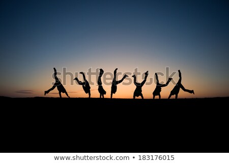Breakdance at sunset Stock photo © sognolucido