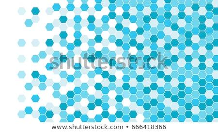 digitális · hatszög · pixel · mozaik · fényes · narancs - stock fotó © sidmay