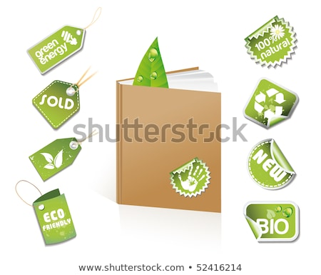 Book - eco idea with stickers and tags Stock photo © Lota