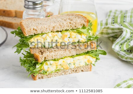Ei mayonaise diner ontbijt salade vers Stockfoto © M-studio