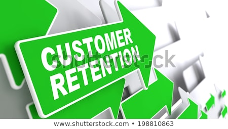 Customer Retention on Green Direction Arrow Sign. Stock photo © tashatuvango