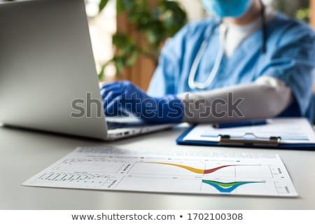 Enfekte veri kırmızı virüs yukarı çoklu Stok fotoğraf © 3mc