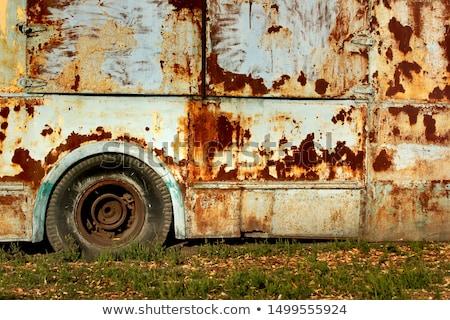 rozsdás · busz · öreg · részben · iskola · üveg - stock fotó © Ava