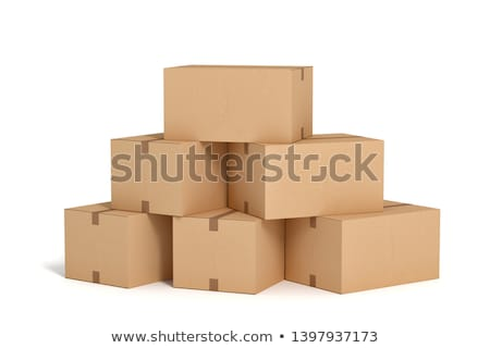 Boxes piles Stock photo © simply