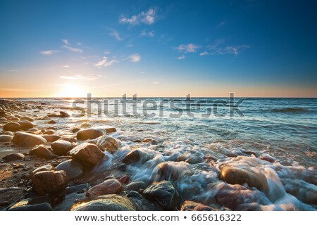 Gün batımı baltık denizi sahil yaz plaj gökyüzü Stok fotoğraf © EFischen