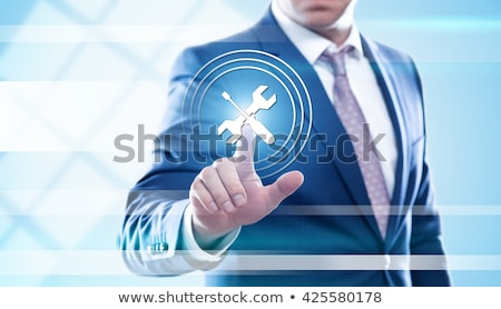 ícone · do · computador · abrir · dobrador · 3D · negócio · projeto - foto stock © cuteimage
