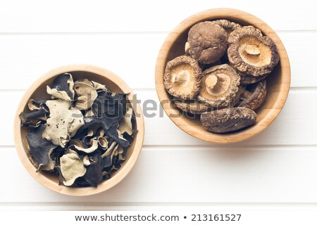jelly ear and shiitake mushrooms stock photo © jirkaejc