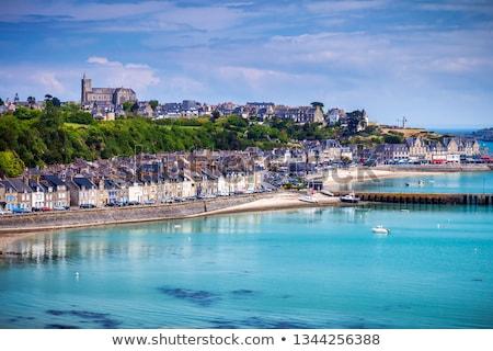 plage · faible · marée · bateaux · France · phare - photo stock © prill
