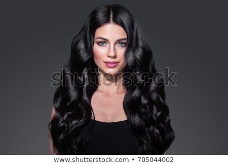 Pelo negro peluca blanco moda fondo belleza Foto stock © nito