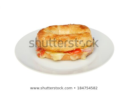 ベーグル 白 孤立した 食品 パン ストックフォト © Balefire9