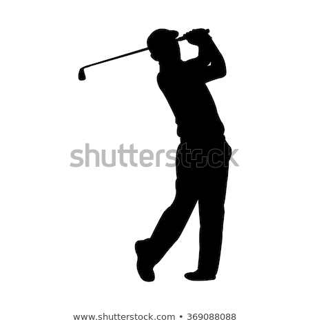 Golf silhouettes art club amusement chapeau Photo stock © Slobelix