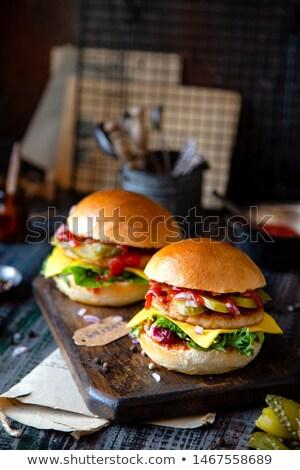 два · свежие · изолированный · белый · сыра · мяса - Сток-фото © jeliva