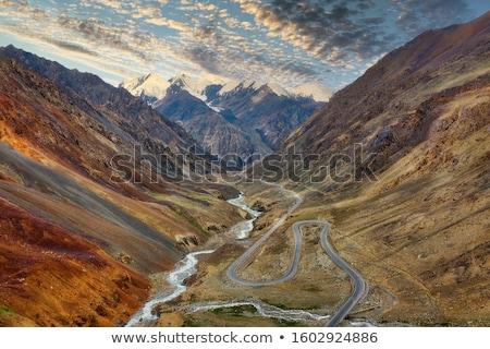 Snelweg vallei Pakistan wolken landschap reizen Stockfoto © meinzahn