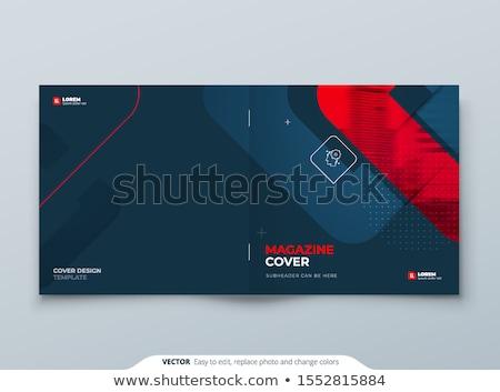 modern · sötét · vektor · absztrakt · brosúra · design · sablon - stock fotó © orson