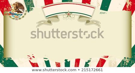 mexican · banderą · grunge · ilustracja · zielone - zdjęcia stock © tintin75