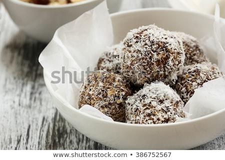 Sweet coconut balls Stock photo © manaemedia
