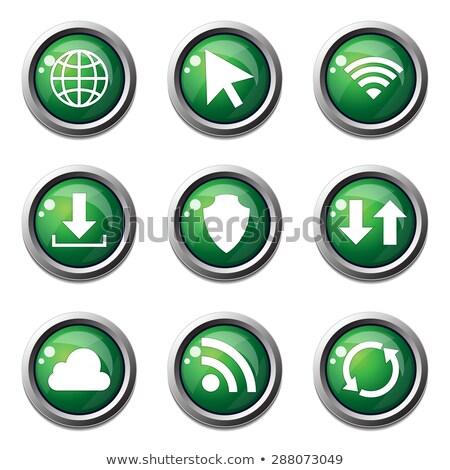 Wifi vektör yeşil web simgesi düğme Stok fotoğraf © rizwanali3d