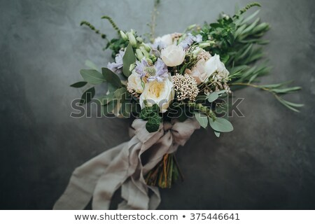 結婚式のブーケ 緑の草 結婚式 カップル 背景 愛 ストックフォト © mikhail_ulyannik