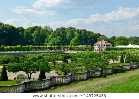 marly palace in peterhof garden stock photo © mahout