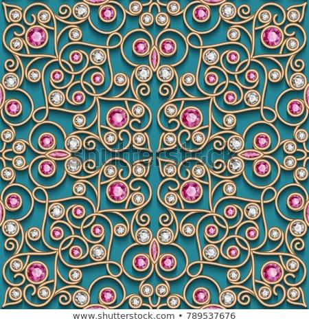 Renkli süsler değerli taşlar örnek Stok fotoğraf © yurkina
