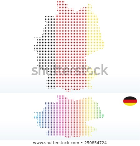 Map of Federal Republic of Germany with with Dot Pattern Stock photo © Istanbul2009