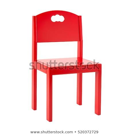kırmızı · ofis · koltuğu · yalıtılmış · beyaz · ofis · dizayn - stok fotoğraf © ozaiachin